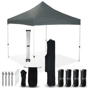 Grey 10x10 Pop Up Canopy Outdoor Tent