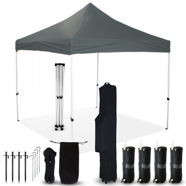 Grey 10x10 Pop Up Canopy Outdoor Tent