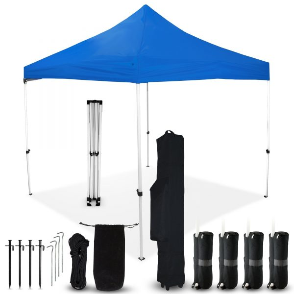 Blue 10x10 Pop Up Canopy Outdoor Tent
