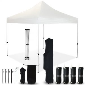 White 10x10 Pop Up Canopy Outdoor Tent