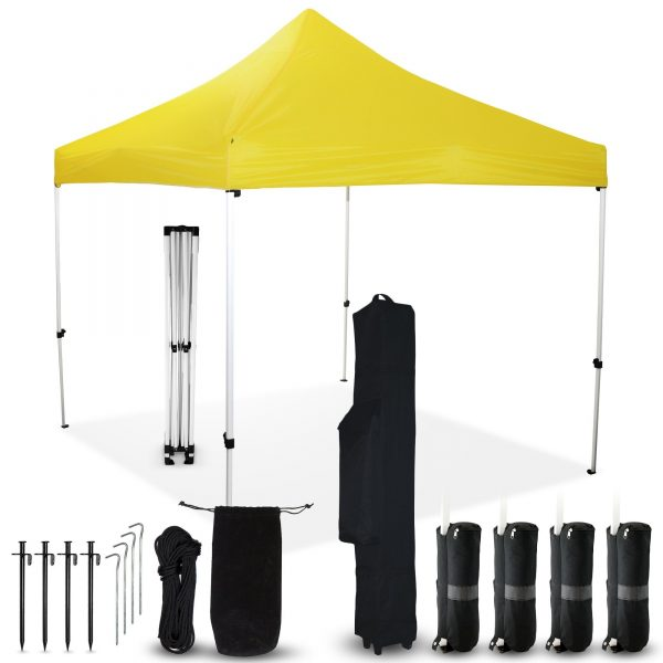 Yellow 10x10 Pop Up Canopy Outdoor Tent