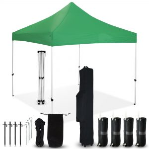 Green 10x10 Pop Up Canopy Outdoor Tent