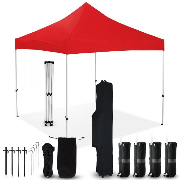 Red 10x10 Pop Up Canopy Outdoor Tent